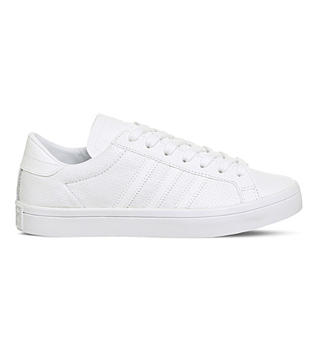 ADIDAS Court Vantage perforated leather trainers (White+white+white