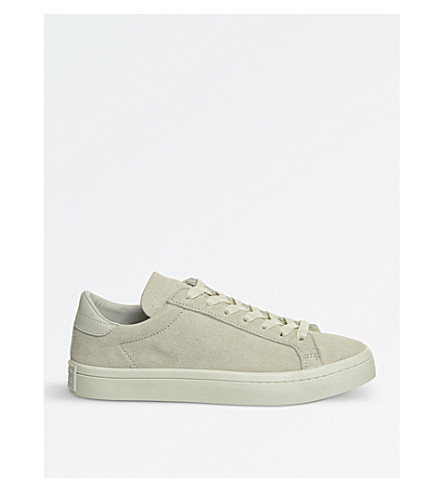 ADIDAS Court vantage leather trainers (White+mono+suede