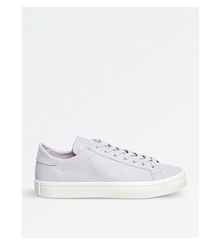 ADIDAS Court vantage leather trainers (Grey+one+white