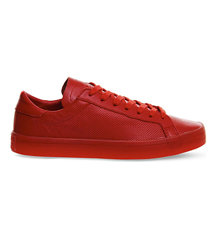 ADIDAS Court Vantage leather trainers (Scarlet