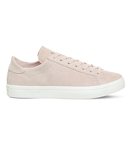 ADIDAS Court Vantage suede trainers (Vapour+pink+white