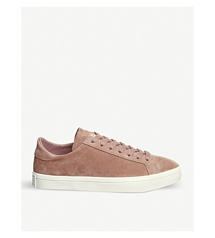 ADIDAS Court Vantage suede trainers (Ash+pink
