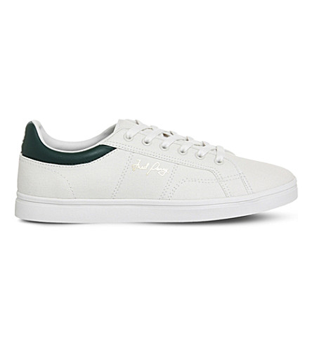 FRED PERRY Sidespin canvas sneakers Porcelainivy PreviousNext