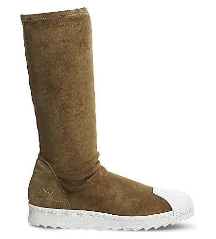 ADIDAS X RICK OWENS Rick Owens x adidas superstar ripple trainers (Mustard+milk