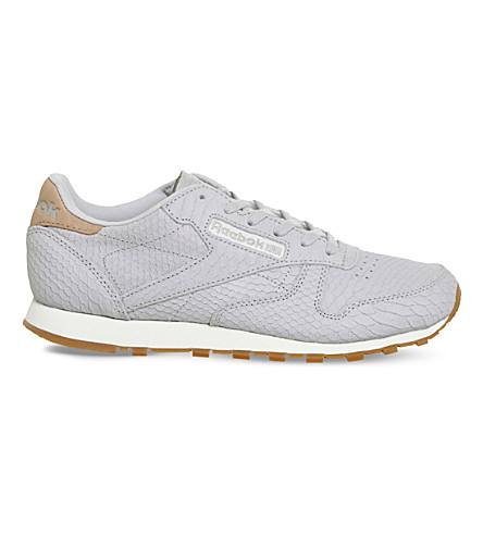 REEBOK Classic snake-effect leather trainers