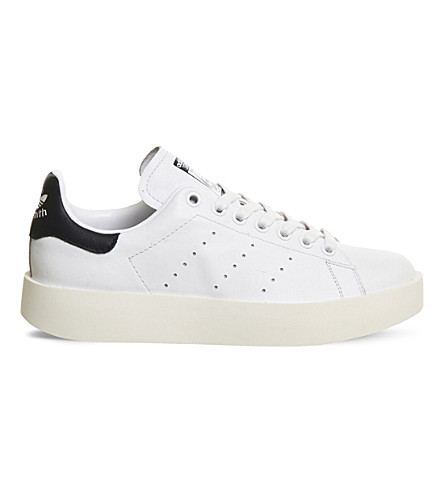 ADIDAS Stan Smith Bold leather trainers (White black
