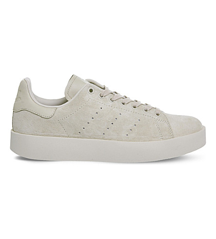 ADIDAS Stan Smith suede low-top trainers (Linen+mono