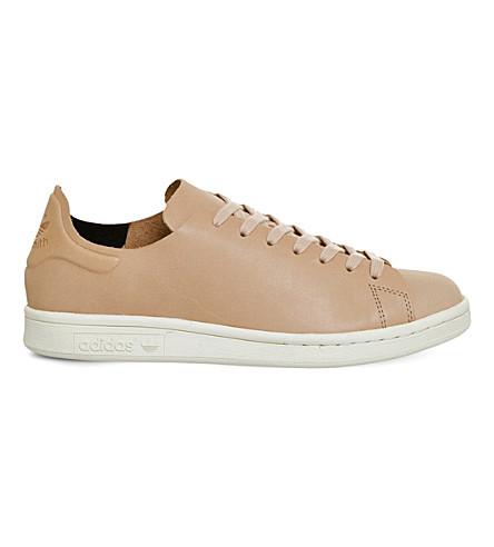 ADIDAS Stan Smith leather sneakers (Nude+tan+white