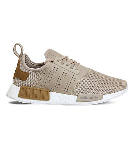 ADIDAS NMD lace-up mesh trainers (Desert sand
