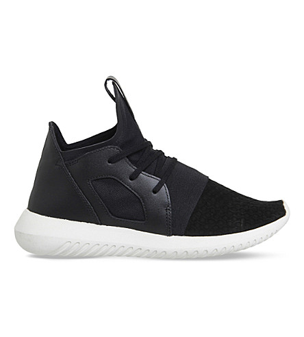 ADIDAS Tubular Defiant lace-up neoprene trainers (Core black off white