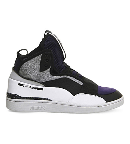 PUMA Mcq brace mid-top trainers (Black white gray