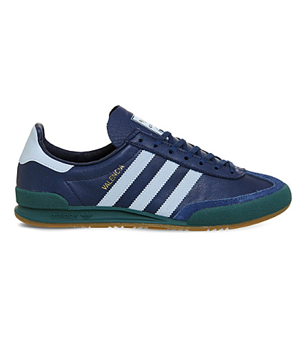 ADIDAS Jeans 2 low-top leather trainers (Valencia+blue+city