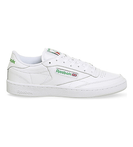 REEBOK Club C 85 leather trainers (White+green