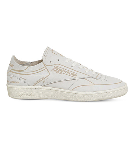 REEBOK Club C 85 HMG leather trainers (Classic+white+grey