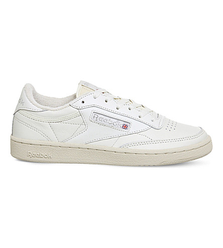 REEBOK Club C 85 leather trainers (Chalk+silver+vintage