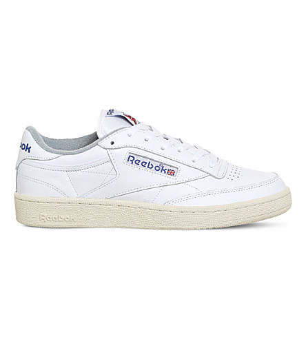 REEBOK Club C 85 leather trainers (White+blue+chalk