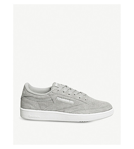 REEBOK Club c 85 suede low-top trainers (Powder+grey+white