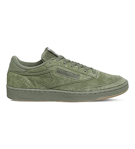 REEBOK Club C 85 suede trainers (Hunter+green+gum+sg