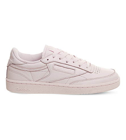 REEBOK Club C 85 Elm leather low-top trainers (Porcelain+pink+elm