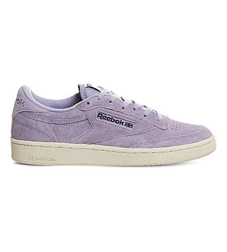 REEBOK Club C 85 nubuck sneakers (Moon+violet+suede