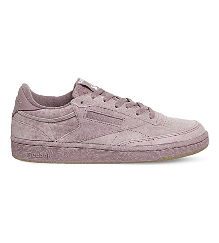 REEBOK Club C 85 suede trainers (Smoky+orchid+gum+sg