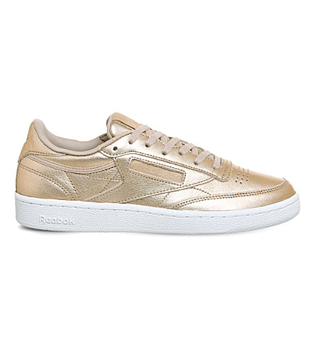 REEBOK Club C 85 leather trainers (Pearl+metallic+peach