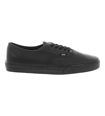 VANS Authentic leather trainers (Black+mono