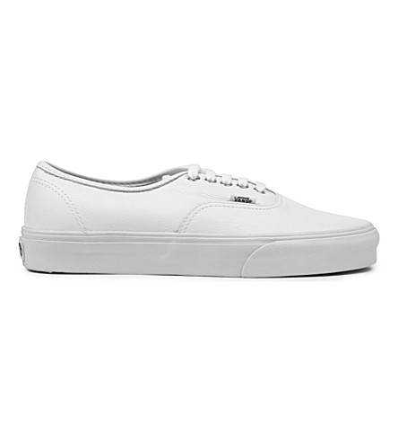 VANS Authentic leather trainers (White