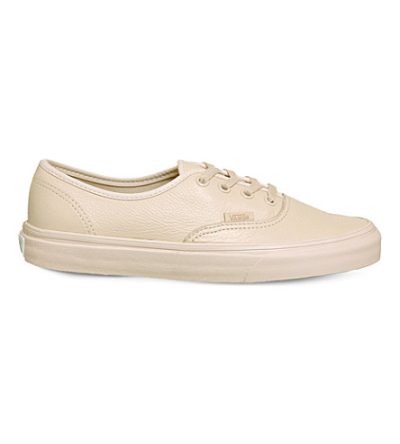 VANS Authentic leather trainers (Sepia+rose+mono