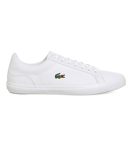 LACOSTE Lerond canvas trainers (White+canvas