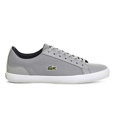 LACOSTE Lerond leather and mesh trainers (Grey