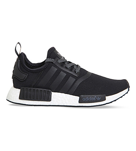 ADIDAS NMD R1 mesh trainers (Core black white