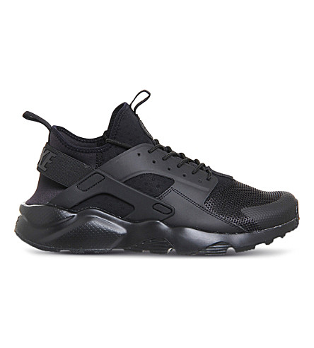 NIKE Air huarache run ultra mesh trainers (Black mono