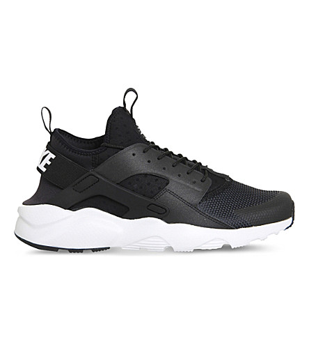 NIKE Air huarache run ultra neoprene and mesh trainers (Black white