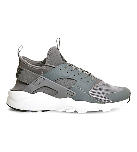 NIKE Air Huarache Run Ultra mesh trainers (Grey black white