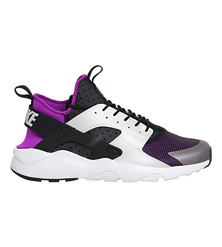 NIKE Air huarache run ultra neoprene and mesh trainers (Black white