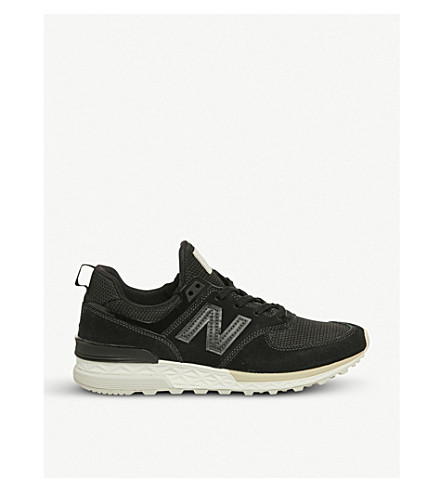 NEW BALANCE 574 Sport suede and mesh trainers (Magnet