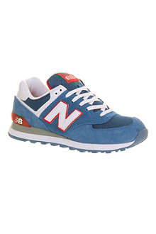 NEW BALANCE 574 leather trainers