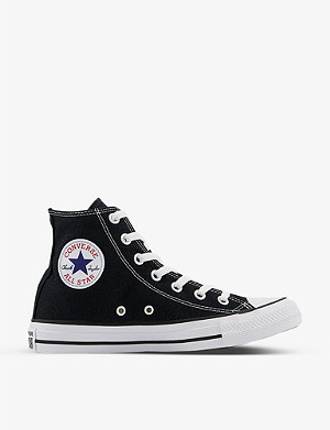 CONVERSE All Star black-canvas high-tops