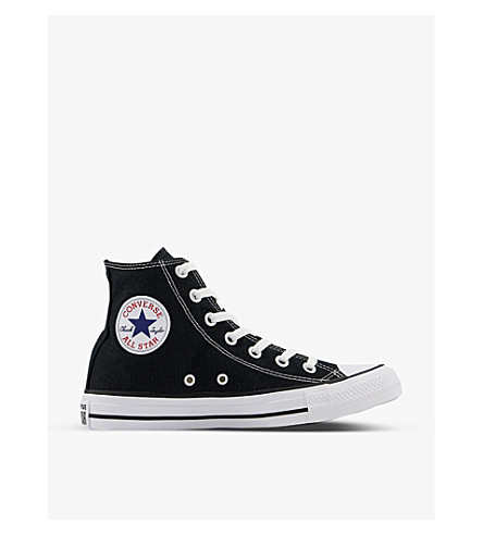 CONVERSE All Star black-canvas high-tops (Black+canvas