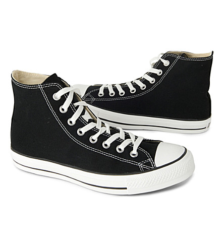 CONVERSE Chuck Taylor All Star high tops (Black+canvas