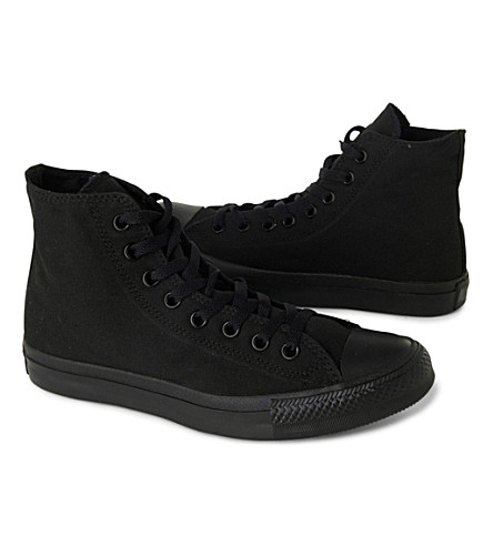 CONVERSE Chuck Taylor All Star high tops (Black+mono+canvas
