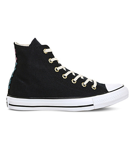 CONVERSE All Star Aztec canvas trainers (Black+festival