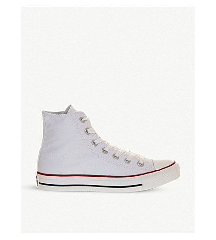 CONVERSE All Star canvas high-tops (Optical+white