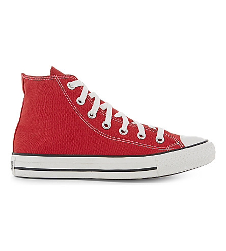 CONVERSE Chuck Taylor All Star high tops (Red+canvas