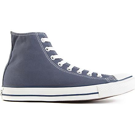 CONVERSE All Star blue-canvas high-tops (Navy-canvas