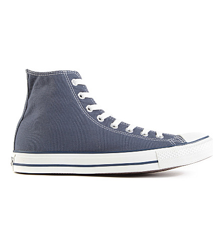 CONVERSE All Star blue-canvas high-tops (Navy+canvas