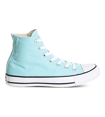CONVERSE All star hi canvas trainers (Light+aqua+white