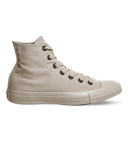 CONVERSE All Star high-top canvas trainers (Tan+sand+mono