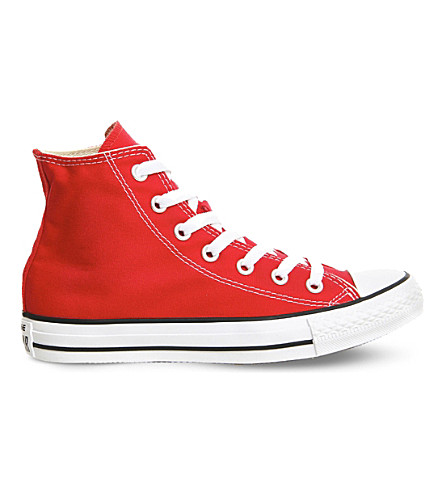 CONVERSE All Star canvas high-tops (Red+canvas